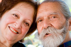 Old happy loving couple Royalty Free Stock Images