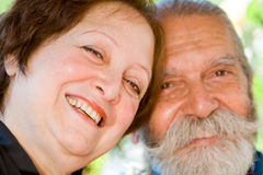 Old happy loving couple Royalty Free Stock Photos