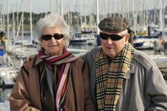Old happy senior couple Royalty Free Stock Photos