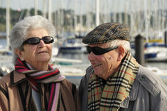 Old happy senior couple Royalty Free Stock Images
