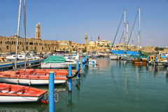 Old harbor in Acre, Israel. Stock Images