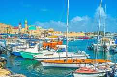 The old harbor of Acre Stock Photography