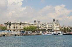 The old harbor in Barcelona Stock Photo