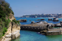 Old harbor of Biarritz Royalty Free Stock Image
