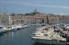 The Old Harbor, Boats, Marseilles, France Royalty Free Stock Images