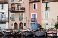 Old Harbor with Boats in Martigues, France Stock Photos
