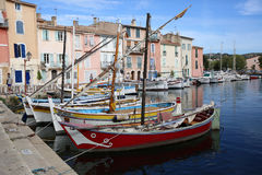 Old Harbor with Boats in Martigues, France Stock Image