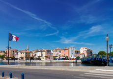 Old harbor with boats Martigues, Provence,  France Stock Photography