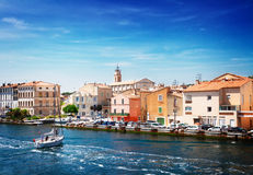 Old harbor with boats Martigues, Provence,  France Royalty Free Stock Photo