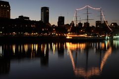 Old harbor, Buenos Aires Stock Images