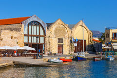 Old harbor in Chania, Greece Royalty Free Stock Photography