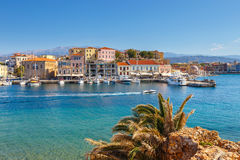 Old harbor in Chania, Greece Stock Images
