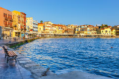 Old harbor in Chania, Greece Stock Photos
