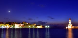 The old harbor of Chania. Royalty Free Stock Images