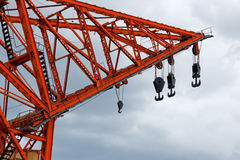 Old harbor crane Royalty Free Stock Image