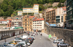 Old harbor of Donostia , May 5, 2013 in San Sebastian, Spain. Harbor  is part of an old fishing village Stock Photo