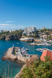 Old harbor and downtown called Marina in Antalya, Turkey Royalty Free Stock Photography