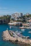 Old harbor and downtown called Marina in Antalya, Turkey Stock Photo