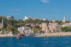 Old harbor and downtown called Marina in Antalya, Turkey Royalty Free Stock Photo