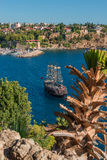 Old harbor and downtown called Marina in Antalya, Turkey Stock Photography