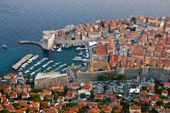 Old Harbor of Dubrovnik in Croatia Royalty Free Stock Photography