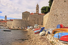 Old Harbor at Dubrovnik, Croatia Royalty Free Stock Photos