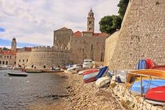 Old Harbor at Dubrovnik, Croatia Royalty Free Stock Photos