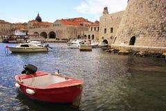 Old Harbor at Dubrovnik, Croatia Stock Photos