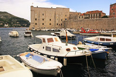 Old Harbor at Dubrovnik, Croatia Royalty Free Stock Photography