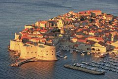 Old Harbor at Dubrovnik, Croatia Stock Photography