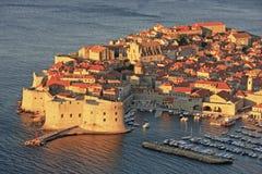 Old Harbor at Dubrovnik, Croatia Stock Photography