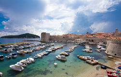 Old harbor in Dubrovnik, Croatia Royalty Free Stock Image