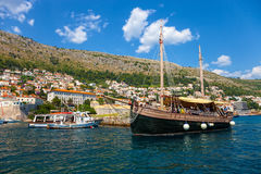 Old Harbor of Dubrovnik Royalty Free Stock Photo