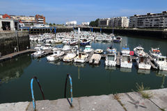 Old harbor of Dunkirk with recreational boats. Dunkirk, France - May 31, 2017: Recreational boats in the old harbor of Dunkirk, France on May 31, 2017 Stock Images