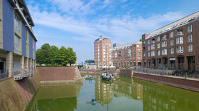 Old harbor in dusseldorf, germany Royalty Free Stock Photo