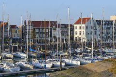 Old harbor of the Dutch town of Vlissingen Royalty Free Stock Photo