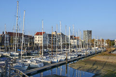 Old harbor of the Dutch town of Vlissingen Stock Photography