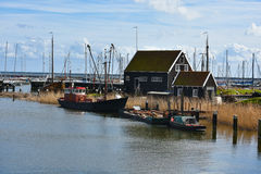 Old harbor of Enkhuizen Stock Image