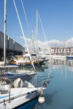 The old harbor of Genova (porto antico) Royalty Free Stock Photo