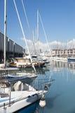 The old harbor of Genova (porto antico) Royalty Free Stock Photo