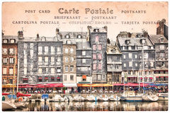 Old harbor of Honfleur France Stock Photography