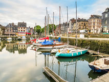 Old harbor. Honfleur, Normandy, France Stock Images