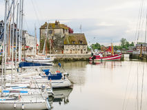 Old harbor. Honfleur, Normandy, France Stock Photography