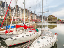 Old harbor. Honfleur, Normandy, France Stock Photo