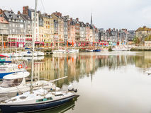 Old harbor. Honfleur, Normandy, France Stock Image
