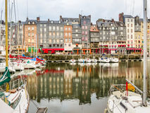 Old harbor. Honfleur, Normandy, France Royalty Free Stock Images