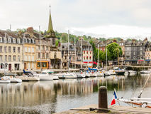Old Harbor. Honfleur, Normandy, France Stock Photos