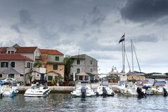Old harbor or marina, Croatia Dalmatia Royalty Free Stock Photos