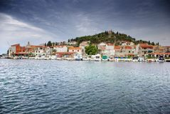Old harbor or marina, Croatia Dalmatia Stock Image