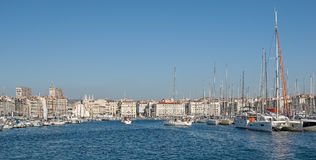 The old harbor of Marseille in France Royalty Free Stock Photo
